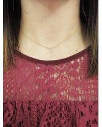 Tate - Metallic Diamond Teardrop Arc Necklace - Lyst