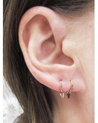 Maria Tash - Multicolor Black Opal Spike Non-rotating Single Earring - Lyst