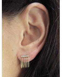 Sydney Evan - Metallic Bar Chain Earrings - Lyst