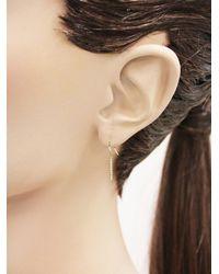 Jennifer Meyer - Metallic Long Diamond Bar Drop Earrings - Lyst
