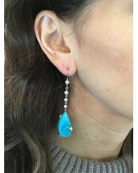 Cathy Waterman - Blue Turquoise Shell Earrings - Lyst