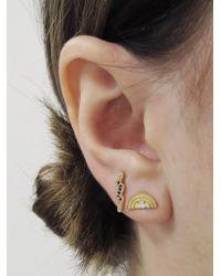 Andrea Fohrman - Multicolor Mini Blue Sapphire Bolt Single Stud Earring - Lyst