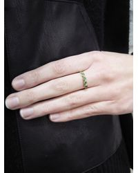 Jennifer Meyer - Metallic Five Stone Emerald Ring - Lyst