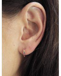 Sydney Evan - Multicolor Small Rainbow Hoop Earrings - Lyst