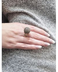 Sydney Evan - Multicolor Black Diamond Ball Ring - Lyst