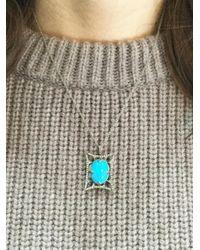 Cathy Waterman - Blue 17 Inch Fine Platinum Chain Necklace - Lyst