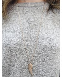 Sydney Evan - Metallic Single Diamond Wing Necklace - Lyst