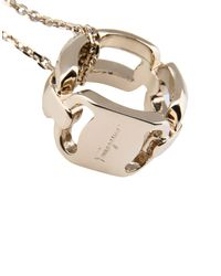 Ferragamo - Metallic Necklace - Lyst