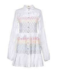 Jourden - White Short Dress - Lyst
