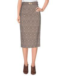 Mariagrazia Panizzi - Natural 3/4 Length Skirt - Lyst