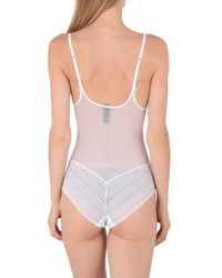 Heidi Klum - White Bodysuits - Lyst