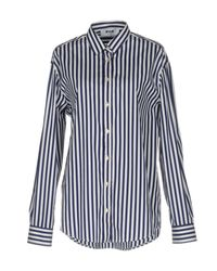 MSGM - Blue Shirt - Lyst