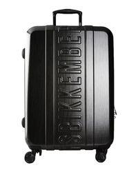 Dirk Bikkembergs - Black Wheeled Luggage for Men - Lyst