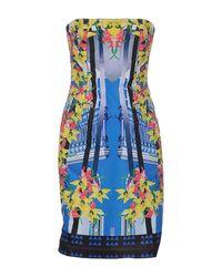 Pinko | Blue Short Dress | Lyst