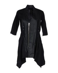 Rick Owens - Black Overcoat - Lyst