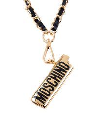 Moschino - Black Necklace - Lyst