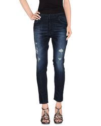 Space Style Concept - Blue Denim Trousers - Lyst