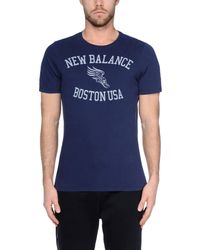 New Balance - Blue T-shirt for Men - Lyst