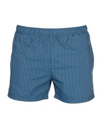4a585e1b14 BOSS Black Swim Trunks in Blue for Men - Lyst