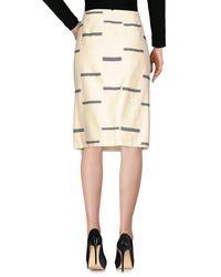 Tory Burch - White Knee Length Skirt - Lyst