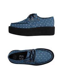 T.U.K. - Blue Lace-up Shoe - Lyst