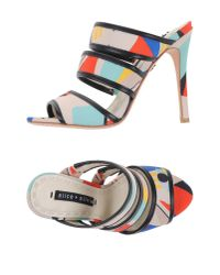 Alice + Olivia | White Sandals | Lyst
