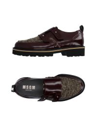 MSGM | Brown Moccasins for Men | Lyst