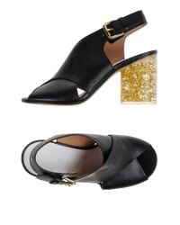 Maison Margiela | Black Sandals | Lyst