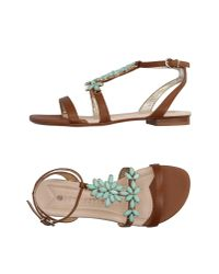La Bottega Dell'artigiano - Brown Sandals - Lyst