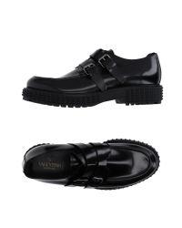 Valentino - Black Moccasins for Men - Lyst