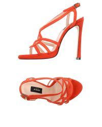 Pinko | Red Sandals | Lyst