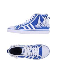 Jeremy Scott for adidas - Blue High-tops & Trainers - Lyst