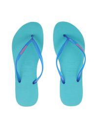 Havaianas - Blue Thong Sandal - Lyst