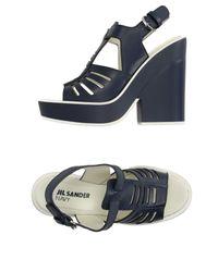 Jil Sander Navy | Blue Sandals | Lyst