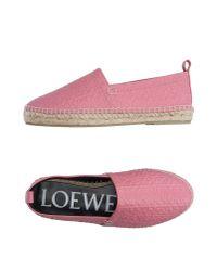 Loewe | Pink Espadrilles | Lyst