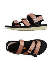 Suicoke   Black Sandals   Lyst