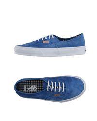 Vans - Blue Low-tops & Sneakers for Men - Lyst