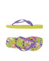 Havaianas - Purple Toe Post Sandal - Lyst