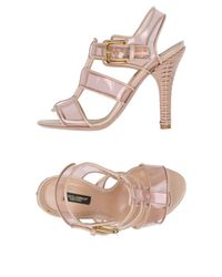 Dolce & Gabbana - Pink Sandals - Lyst