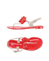 Colors Of California | Red Toe Strap Sandal | Lyst