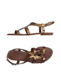 Belle By Sigerson Morrison | Brown Sandals | Lyst