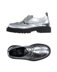 Dolfie - Metallic Lace-up Shoe - Lyst