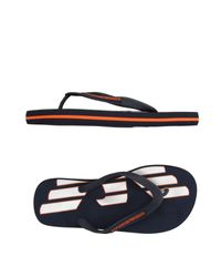EA7 | Blue Toe Post Sandal for Men | Lyst