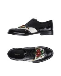 Dolce & Gabbana - Black Lace-up Shoe - Lyst