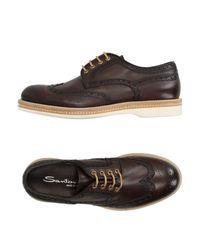 Santoni | Brown Lace-up Shoe for Men | Lyst