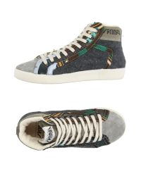 Springa - Gray High-tops & Sneakers - Lyst