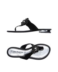 Chiara Pasquini | Black Toe Post Sandal | Lyst