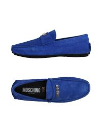Moschino | Blue Loafer for Men | Lyst