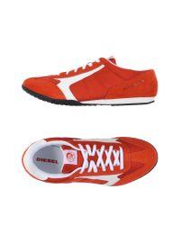 DIESEL   Red Low-tops & Sneakers for Men   Lyst
