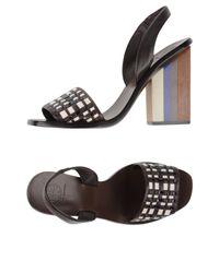 Tory Burch | Brown Sandals | Lyst